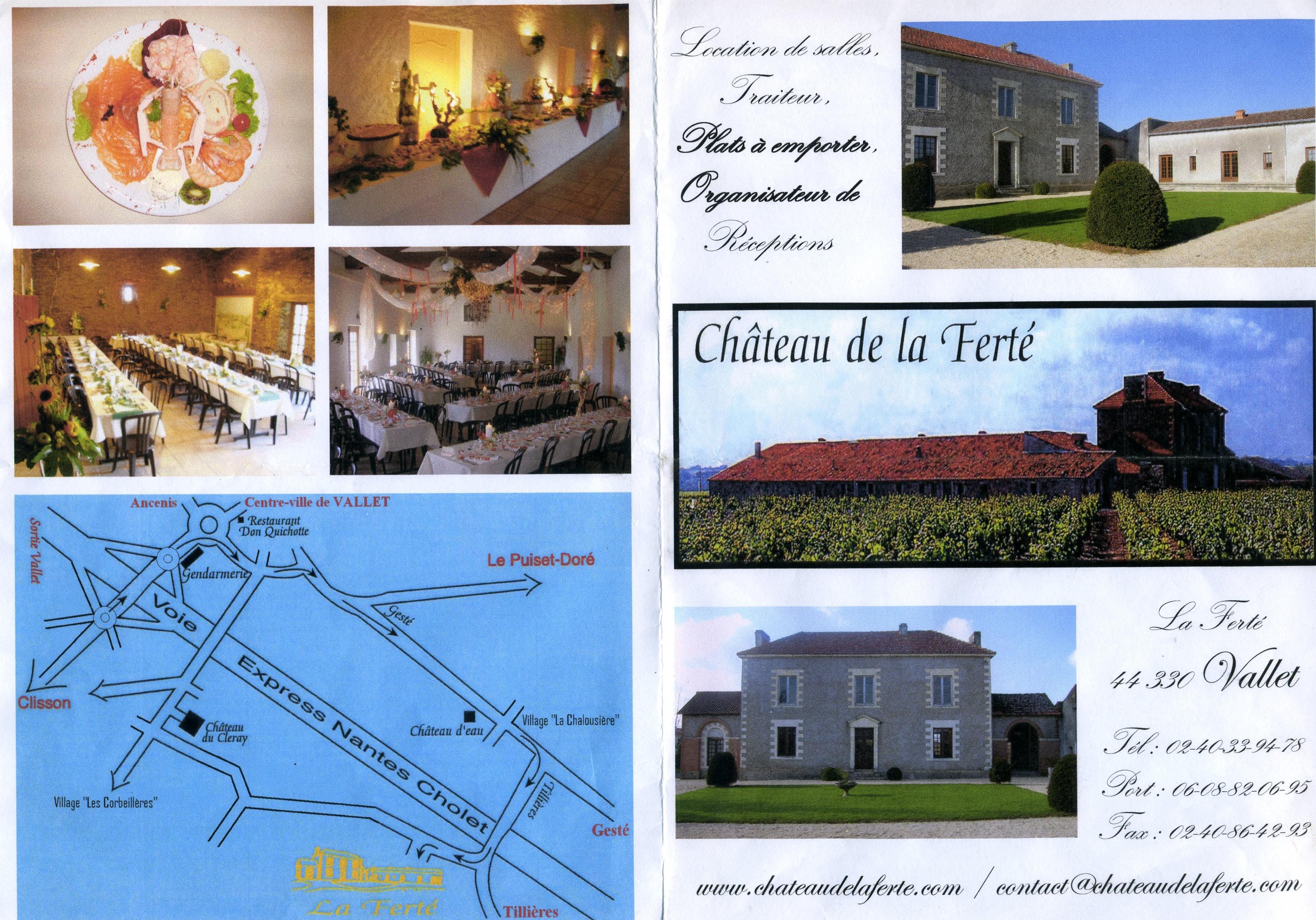 chateau de la ferte - Salle Mariage Vallet