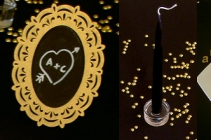 theme saint valentin noir et or