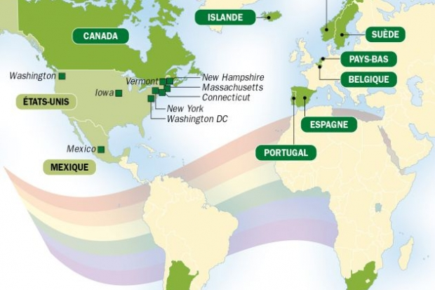 Ces pays qui autorisent le mariage homosexuel - Le Point