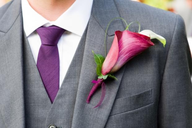 boutonnière fleurs mariage gay